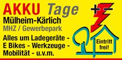 Messe AKKU Tage Mülheim-Kärlich - Messe für Ladegeräte, E-Bikes, Werkzeuge, Mobilität u.v.m.